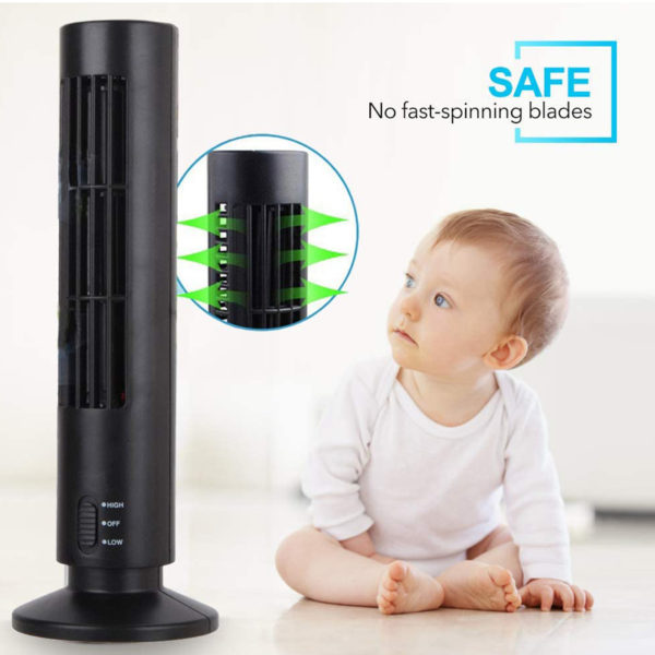 Mini-Portable-Bladeless-Cooling-Tower-Fan
