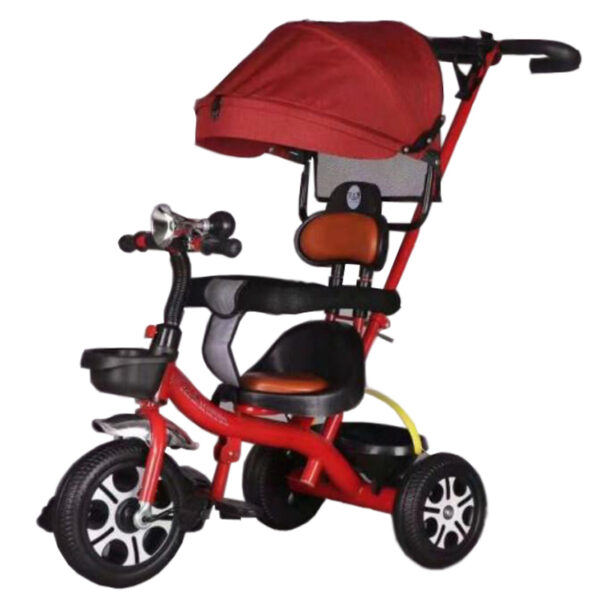 Stylish-Push-Handle-Baby-Tricycle-With-Sunroof