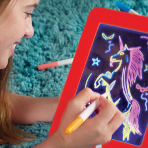 3D Glow Drawing Kids Learning Reusable Magic Sketch Pad
