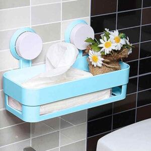 Plastic Wall Rack Self Tray Bathroom Holder Kitchen Organizer
