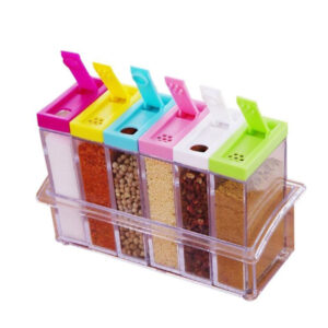 6pcs Seasoning Spice Rack Set