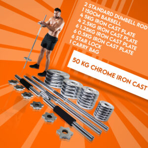 Gym Fitness 50kg Weight Set