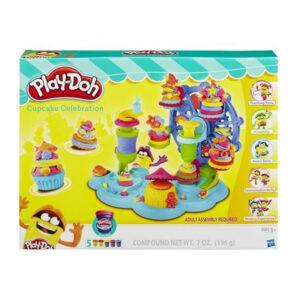 Kids Play Doh Cupcake Celebration Playset