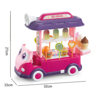 Kids Happy Candy Bus Ice Cream Food Truck with Light and Music