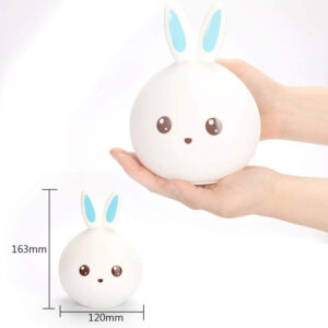 Bunny Multi Color Integrated LED Night Light Lamp for Kids