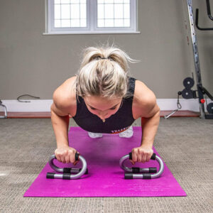 Non Slip Steel Pushup Stand with Foam Grip